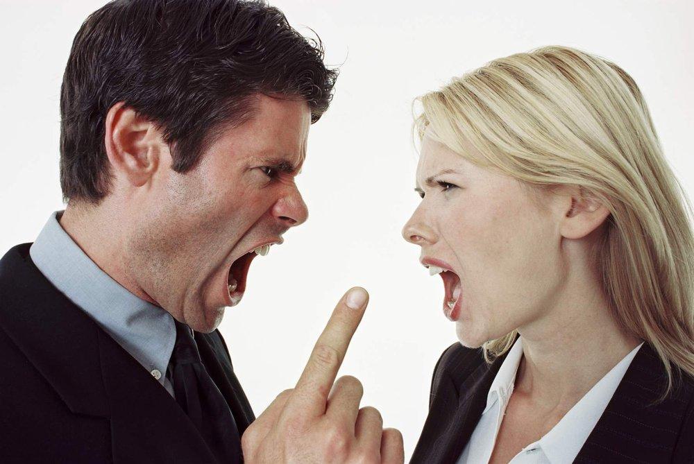 Discusión a gritos